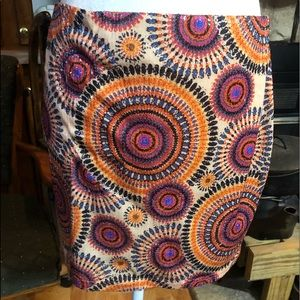 Cecico multicolored sequin skirt size Large